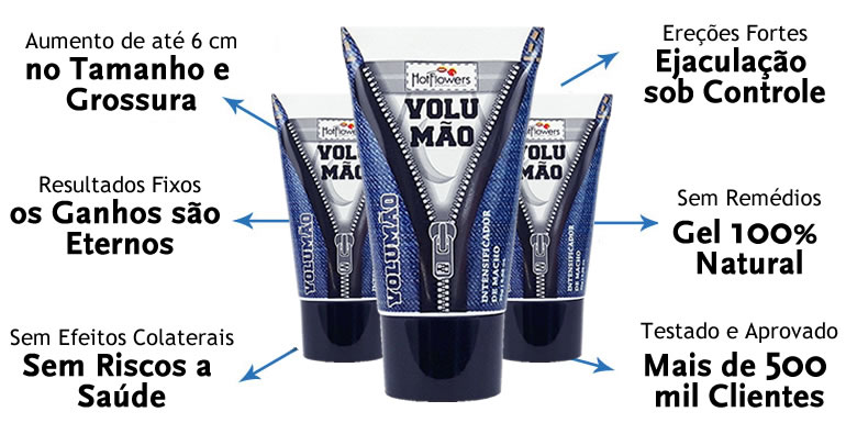 Gel volumão para que serve